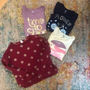 Girls Shirt Bundle 10-12 Tee Shirts and Pullover
